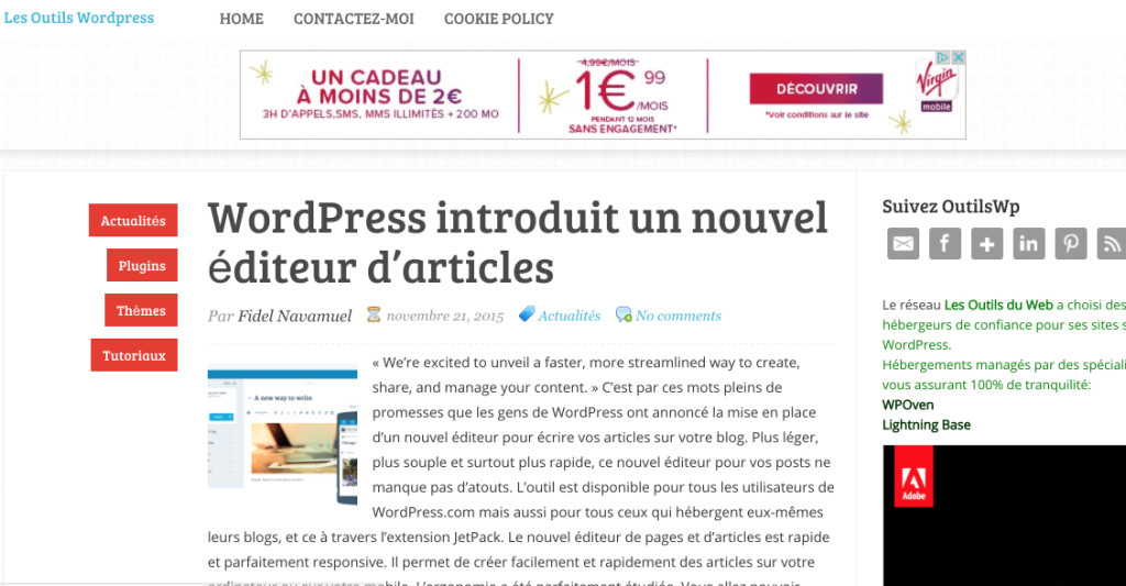 Les Outils WordPress